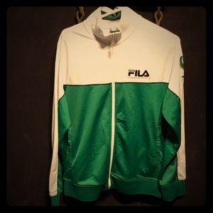 Size medium men's Italia Fila full zip track coat